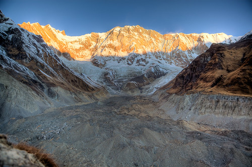 Sunrise on Annapurna I  (8,091m)
