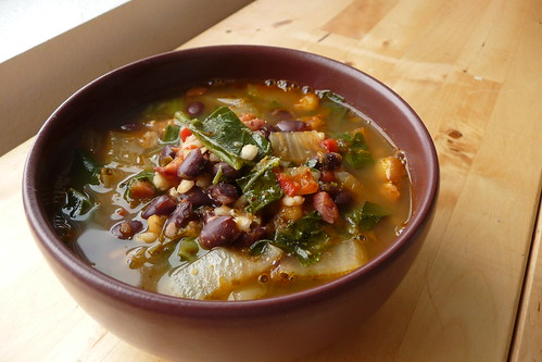 Black Bean & Bacon Soup