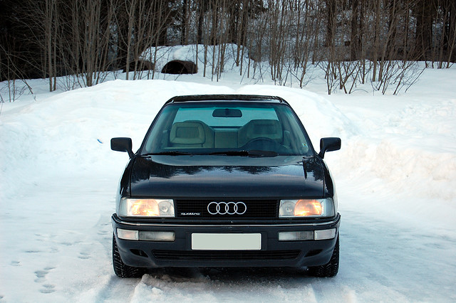 winter 2 3 snow norway audi 90 quattro 20v typ89