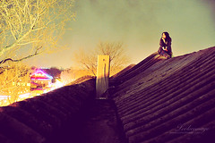 Thinking is easy, acting is difficult, and to put one's thoughts into action is the most difficult thing in the world. (ShanLuPhoto) Tags: winter rooftop night lights beijing   houhai
