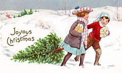 christmas xmas old eve winter holiday snow playing cold tree art history classic illustration vintage season children outdoors countryside cut snowy antique traditional country seasonal victorian young scenic peaceful scene siblings fresh historic celebration nostalgia evergreen presents era nostalgic tradition wonderland quaint sentiment bundled yuletide sentimental wintry dragging oldpixels achr1051