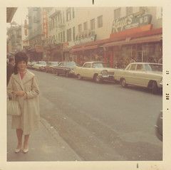 (seaotter22) Tags: street woman cars fashion vintage hair coat 1967 matching hairstyle