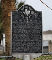Karankawa Indian Burial Ground () Tags: park county city camp galveston beach plaque mexico island coast texas gulf state native indian houston ground 1966 american jamaica burial marker historical nomad tribe galvestonisland commission campsite cannibal cannibalism nomadic jamaicabeach houstonist houstonistcom karankawa guflofmexico