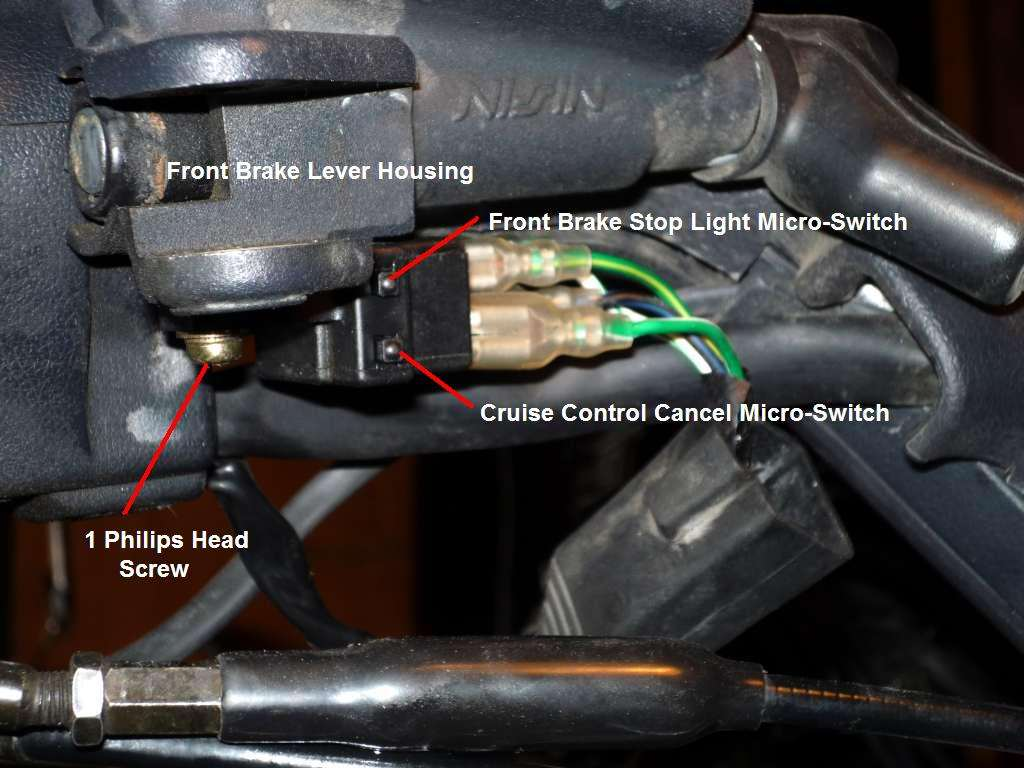Front GL1500 brake light micro switch removal | Steve Saunders Goldwing  ForumsSteve Saunders Goldwing Forums