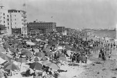 1920-Venice Beach (ozfan22) Tags: ocean buildings pier seaside sand venicebeach umbrellas swimsuits 1920