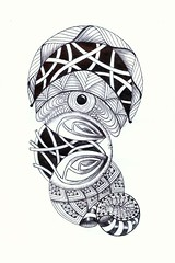 ball point doodle (Jo in NZ) Tags: pen drawing line innk zentangle nzjo zendoodle