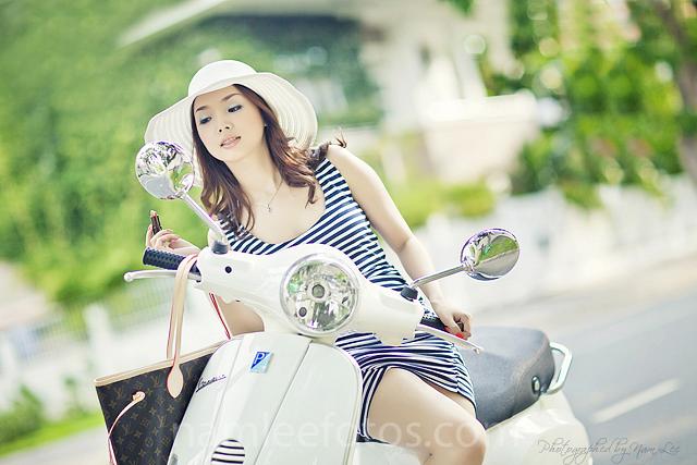 chụp hình thời trang ngoại cảnh - model Laura Lai