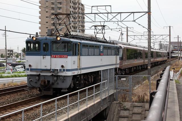 小田急 30000形 EXE 甲種輸送 EF65-1139