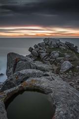 """O fin do mundo"" (A. Patiño) Tags: baroña castros galicia portodoson canon 60d sea ocean mar paisaje landscape longexposure sunset water seascape"