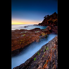Icy (Garry - www.visionandimagination.com) Tags: ocean longexposure water twilight rocks australia qld icy goldcoast snapperrocks blueribbonwinner coolagnatta wwwvisionandimaginationcom