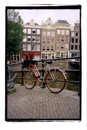 bike on bridge