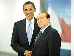 Barack Obama and Silvio Berlusconi