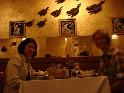 Ruth and I at Sukho Thai Restautant, Havertown.