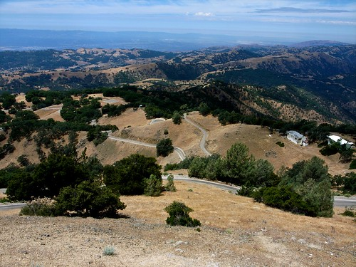 View from the top of mount Hamilton