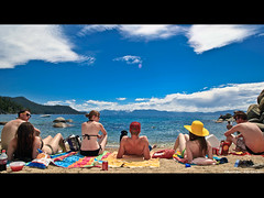 192/365 July 11, 2009 (laurenlemon) Tags: friends summer beach interestingness sand colorful widescreen laketahoe towels snacks letterbox 365 365days explored july09 canoneos5dmarkii laurenrandolph laurenlemon ikeptapplyingspf57 allllldayyyylonnnng