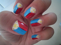 nail art design, Philippine flag (Katikuykuy1) Tags: flag philippines philippineflag nailart threestarsandasun nailartdesign prettynailart uniquenailart