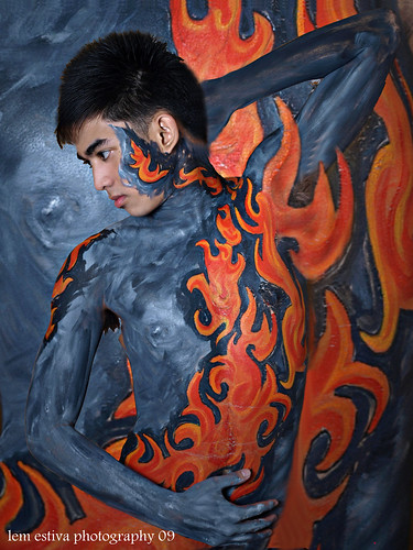 Body Painting Pictures - Fire Body Painting