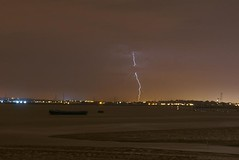 Lightning Strike in Essex (crashcalloway) Tags: summer storm riverside riverthames essex erith lightningstrike