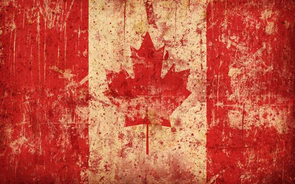 Обои картинки фото флаг, канада, кленовый лист.