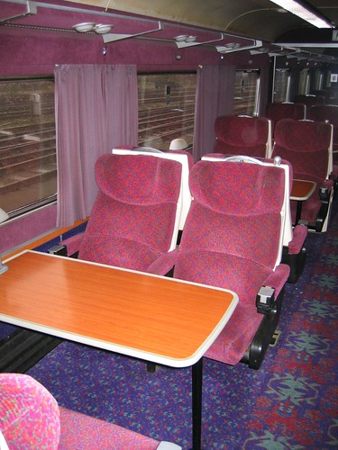 Train Chartering - Interior of carriage, First Class / 1st Class (UK)