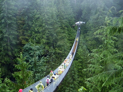 Suspension bridge in vancouver