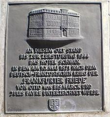 Gedenktafel Hotel Zum Schwan :: Frankfurt a.M.