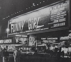 Times Square 1968 Winter Garden Theatre Funny Girl Billboard Vintage New York City (Christian Montone) Tags: newyork timessquare movies billboards celebrities 1960s streisand funnygirl vintagenewyorkcity vintageadvertisments vintagetimessquare