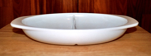 Opal Oval Divided Serving Dish
