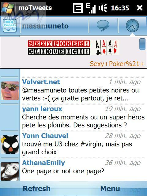 moTweets encore une nouvelle application Twitter pour Windows Mobile.
