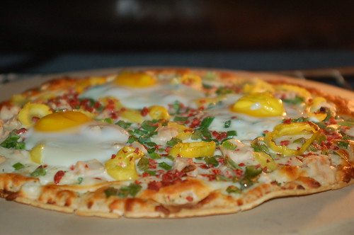 fried egg on a pizza?