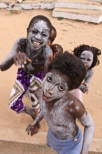 Crazy kids. Cape Coast, Ghana.