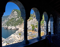 Astonished by nature's beauty (klausthebest) Tags: italy panorama building church nature beauty architecture italia child liguria column portovenere topshots stpeterchurch chiesadisanpietro worldbest thesuperbmasterpiece panoramafotogrfico