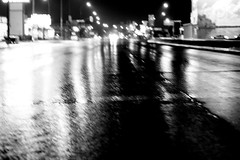 it rained last night :( (Maicdlphin) Tags: bw rain blurry winnipeg fuck portageave portage fridaynight igotshitfacedafteritookthis inapropriatetag