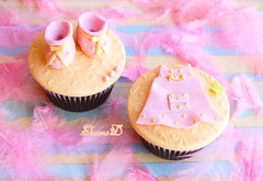 Baby Shower Cupcakes (~Trs Chic Cupcakes by ShamsD~) Tags: pink green yellow cupcakes nikon african south booties babyshower prettyinpink proudly itsagirl babydress babyshowercupcakes designercupcakes shamsd shamimadesai madeinsouthafrica cupcakesinsouthafrica cupcakesfromsouthafrica cupcakesinpietermaritzburg weddingcupcakesinsouthafrica weddingcupcakesinpietermaritzburg