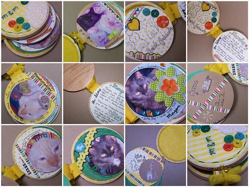 project 1: embroidery hoop mini album