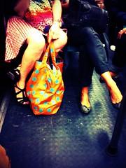 End of Summer (8:40am) Tags: subway legs mtro photoeffect mtroparisien parisiansubway