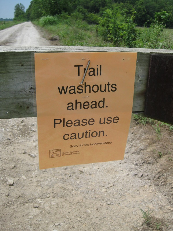 Trail Washout