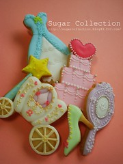 cocoro cookies (JILL's Sugar Collection) Tags: girl cookies foods princess decoration sugar icing piping picnik foodcolor royalicing sugarcraft