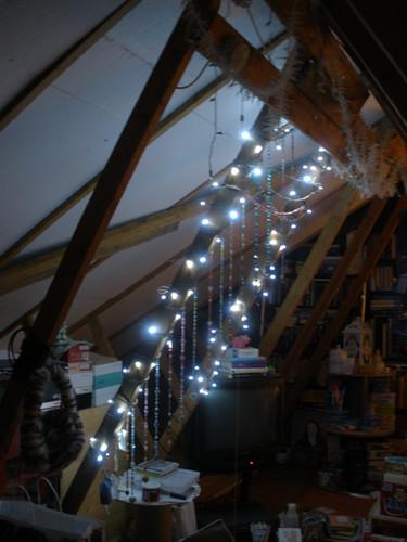 Attic lights & bead decorations
