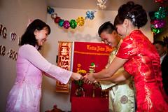 Phil & Loan Tea CM-194 (iPix Studio) Tags: wedding red cute girl vietnamese tea chinese ceremony vietnam dai ao