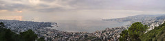 Jounieh Bay - Pano (Serge Melki) Tags: sunset lebanon nikon pano panoramic serge melki d300 harissa jounieh 18200mmf3556gvr bayofjounieh jounyié