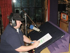 Glenn records his lines