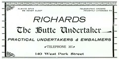 Richards, The Butte Undertaker, Butte, Montana (1901)