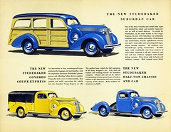 studebaker brochure stationwagon 1937 woodie suburbancar chassisandcab coveredcoupeexpress