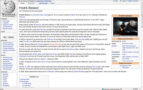 Fredrik Åkesson on Wikipedia