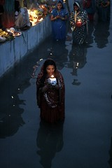 Ladies holding lamp. (ramesh_lalwani) Tags: chhath