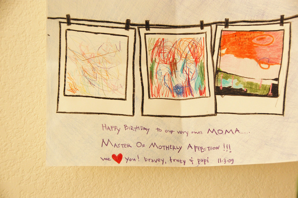 my birthday card from my 3 artists