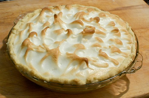Lemon meringue pie, take 1. Not bad! Could be higher / more filling, though.