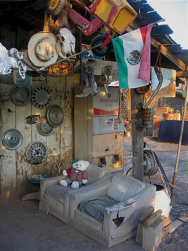 Photography homage, Louis Carlos Bernal,  tire store, Coolidge, Arizona