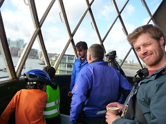 window (estherase) Tags: uk friends lighthouse london thames river lumix friend jon findleastinteresting panasonic trinity riverthames 0f trinitybuoywharf emssimp noj nojjohnson experimentallighthouse dmctz5